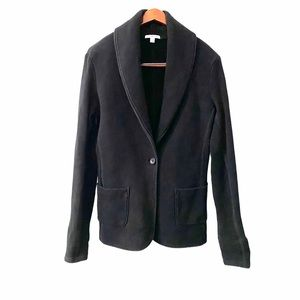 James Perse Black Shawl Collar One Button Blazer